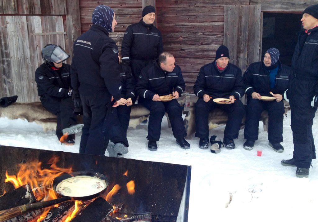 Matlagningstävling i Sälen vinter