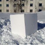 Exempel på snöskulptering