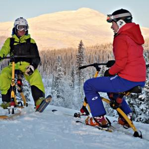 Snowbike är roligare tillsammans med andra