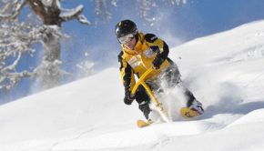 Snowbike i backen
