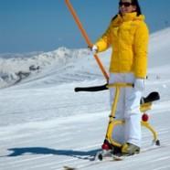 Snowbike i lift