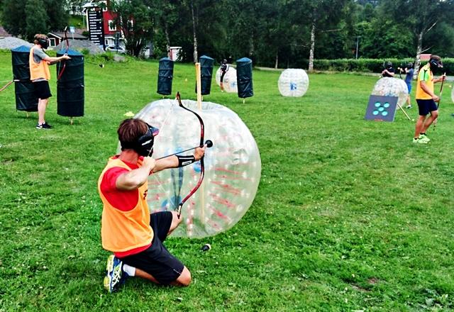 Archery combat skydd