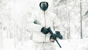 Paintball i Sälen i vinter